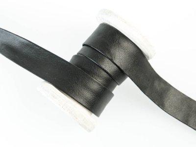 Einfassband/Falzband Kunstleder - uni schwarz