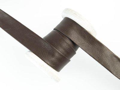 Einfassband/Falzband Kunstleder - uni dunkles braun