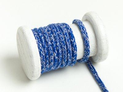 Runde Baumwoll Kordel / Band Hoodie / Kapuze Ø 5 mm meliert royalblau