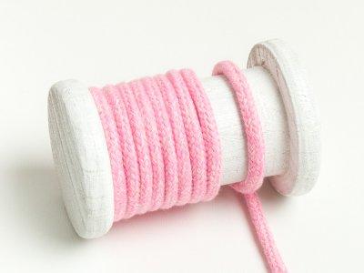 Runde Baumwoll Kordel / Band Hoodie / Kapuze Ø 5 mm meliert rosa