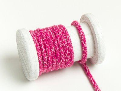 Runde Baumwoll Kordel / Band Hoodie / Kapuze Ø 5 mm meliert pink