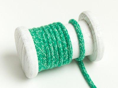 Runde Baumwoll Kordel / Band Hoodie / Kapuze Ø 5 mm meliert grün