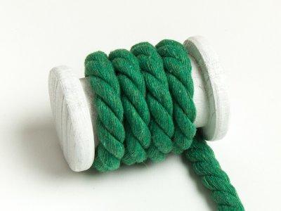 Gedrehte Baumwoll Kordel / Band Hoodie / Kapuze Ø 13 mm uni grün