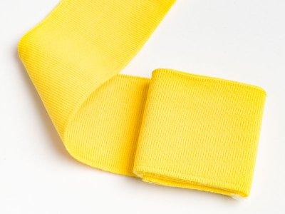 Elastisches Bündchen - Uni - gelb