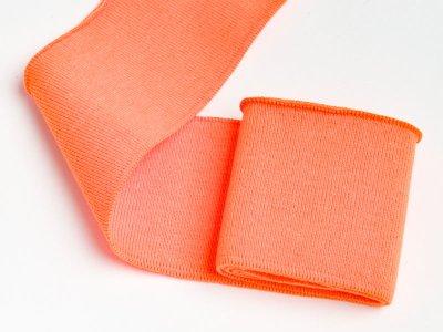 Elastisches Bündchen - Uni - neon orange