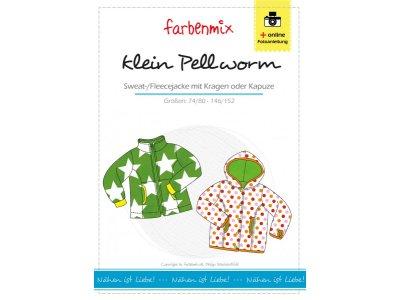 Papierschnittmuster Farbenmix Sweat-/Fleecejacke kleinPELLWORM - Kinder