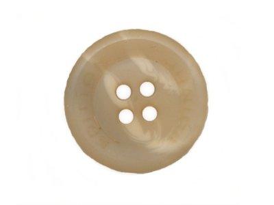 Knopf rund 20mm beige marmoriert