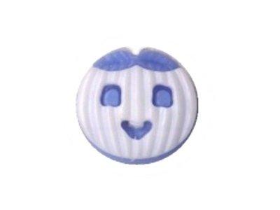 Kinderknopf Kürbisknopf weiß 16mm