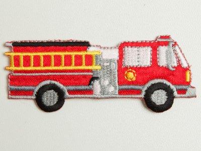 Applikation Feuerwehr zum Aufbügeln rot