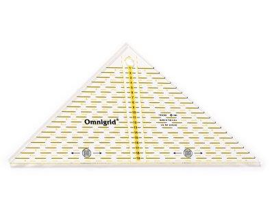 Omnigrid-Patchwork-Dreieck  für ein 1/4 Quadrat bis 20 cm