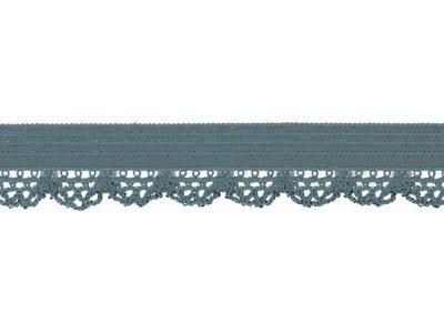 Elastisches Gummiband 12 mm - Spitzenborde - denim