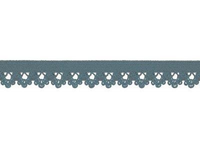 Elastisches Gummiband 13 mm - Spitzenborde - denim