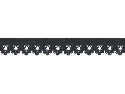 Elastisches Gummiband 13 mm - Spitzenborde - marine