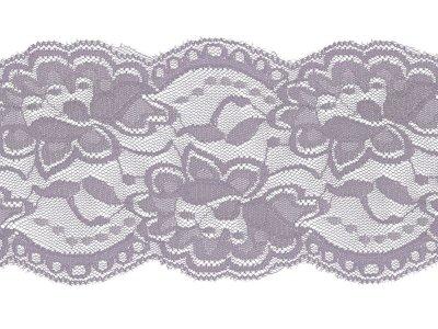Elastische Spitze 100 mm - Blumen - lila