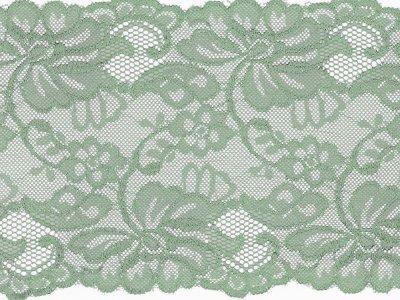 Elastische Spitze 150 mm - Blumen - mint
