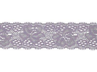 Elastische Spitze 30 mm - Blumen - lila