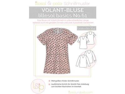 Papierschnittmuster lillesol basics No.61 Mädchen Volant-Bluse