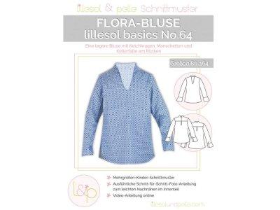 Papierschnittmuster lillesol basics No.64 Mädchen Flora - Bluse