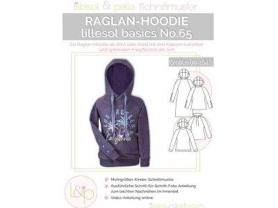 Papierschnittmuster lillesol basics No.65 Kinder Raglan - Hoodie