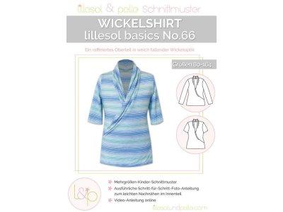 Papierschnittmuster lillesol basics No.66 Mädchen Wickelshirt