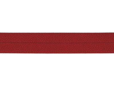 Struktur Kunstleder Einfassband gefalzt - 20 mm - rot