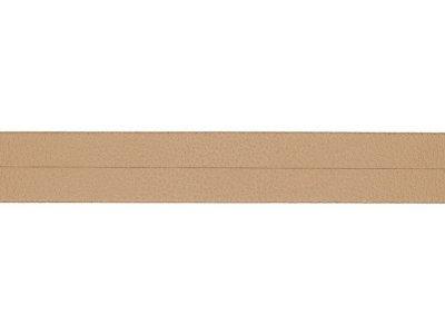 Struktur Kunstleder Einfassband gefalzt - 20 mm - sand