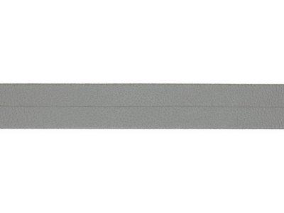 Struktur Kunstleder Einfassband gefalzt - 20 mm - metallic grau