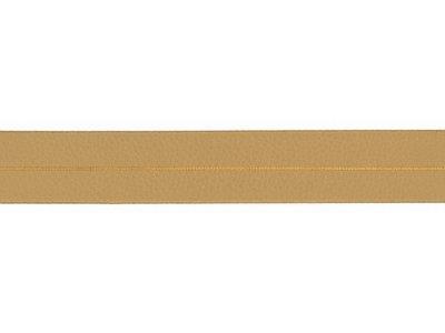 Struktur Kunstleder Einfassband gefalzt - 20 mm - goldfarben