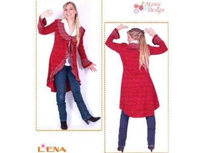 Schnittmuster LENA Jacke mit (ohne) Rüschen (kurz,lang)