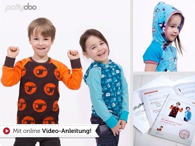 Papierschnittmuster pattydoo Kindershirt mit Raglanärmel LEO