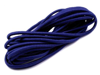 Gummikordel rund 3 mm - 3 m Bund - königsblau
