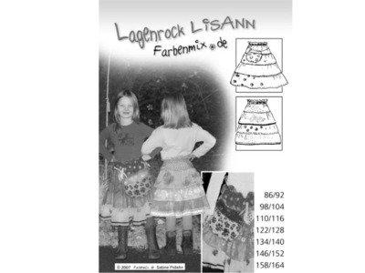 Schnittmuster LISANN Lagenrock Farbenmix