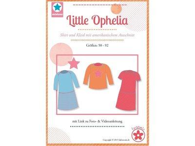 Schnittmuster Little Ophelia Shirt und Kleid mit amerikanischem Ausschnitt