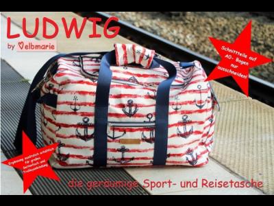 Papierschnittmuster elbmarie Sport- oder Reisetasche LUDWIG - Reisetasche