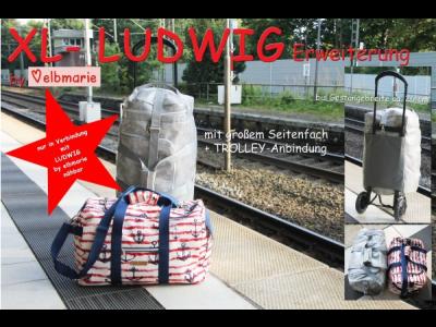 Papierschnittmuster elbmarie Sport- oder Reisetasche LUDWIG XL - Taschenergänzung