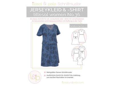 Papierschnittmuster lillesol women No.36 Jerseykleid &- Shirt