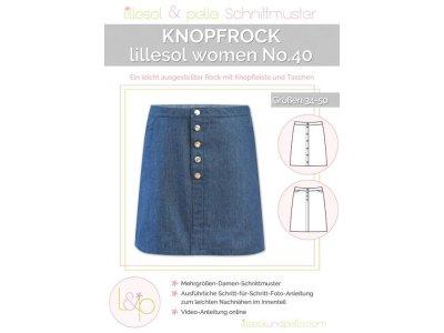 Papierschnittmuster lillesol women No.40 Knopfrock
