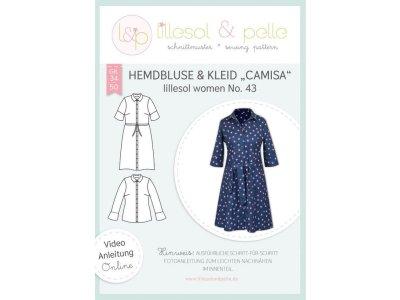 Papierschnittmuster lillesol women No.43 Hemdbluse & Kleid Camisa