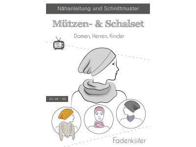 Papier-Schnittmuster Fadenkäfer - Mützen- & Schalset - Family