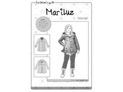 Schnittmuster MARILUZ Mantel Farbenmix