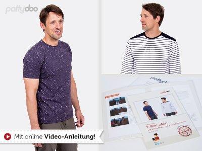 Papierschnittmuster pattydoo T-Shirt Langarmshirt MAX Herren