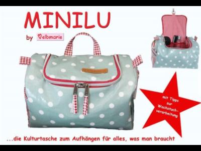 Papierschnittmuster elbmarie Kulturtasche MINILU - Tasche