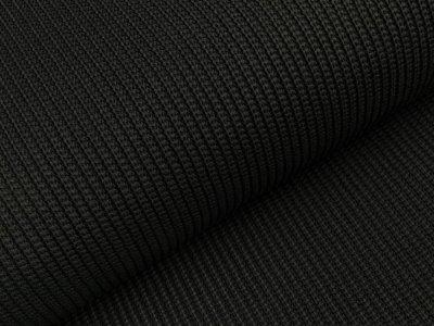 Strickstoff Baumwolle - uni schwarz