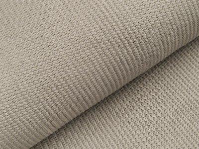 Strickstoff Baumwolle - Waffelmuster - uni grau
