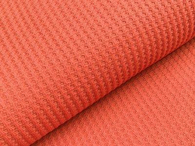 Strickstoff Baumwolle - Waffelmuster - uni rost