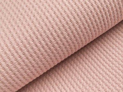Strickstoff Baumwolle - Waffelmuster - uni helles altrosa