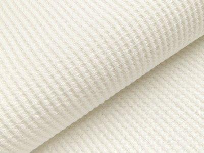 Strickstoff Baumwolle - Waffelmuster - uni wollweiß