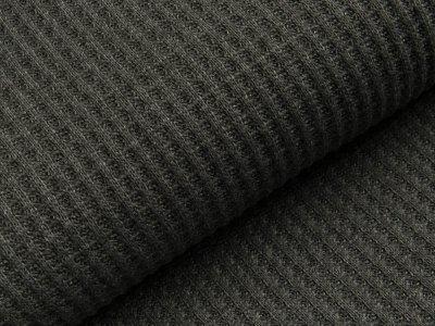 Strickstoff Baumwolle - Waffelmuster - uni anthrazit