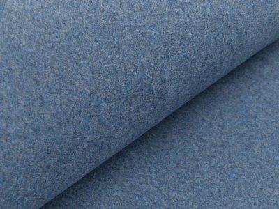 Baumwollfleece - meliert jeansblau