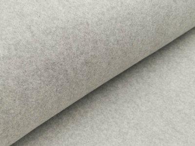 Baumwollfleece - meliert grau